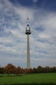 The Donauturm is a tv tower with an observation level, a revolving restaurant, and a bungee jump.