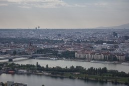 This was part of the view from the Donauturm.