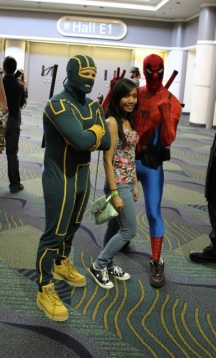 Kickass and Spidey and RandomGirl