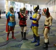 Supergirl, Harley, Wolverine, and Bwana Beast
