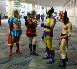 Supergirl, Harley, Wolverine, and Bwana Beast