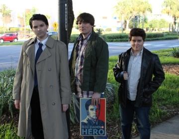 Castiel, Sam, and Dean