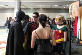 Various Batcave denizens, including a Carrie Kelley Robin!