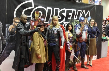 Various Avengers, including an amazing Thor