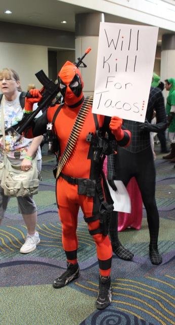 Deadpool wants tacos.