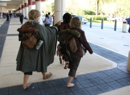 Hobbits journeying into Orlando