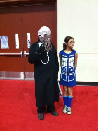 An Ood! (and a girl wrapped in a TARDIS.)