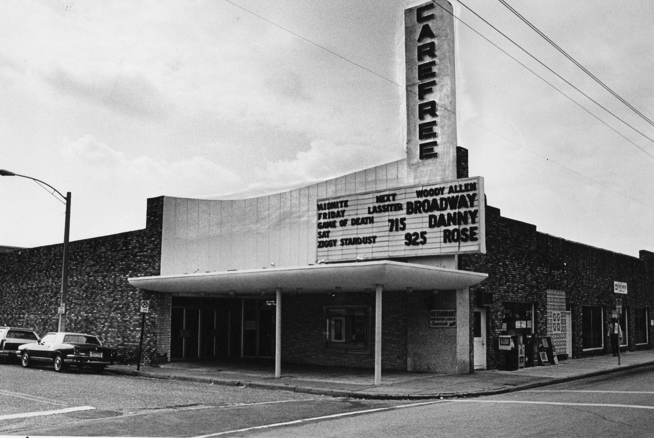1984 photo of Carefree Theater in WPB photo by Loren Hosack