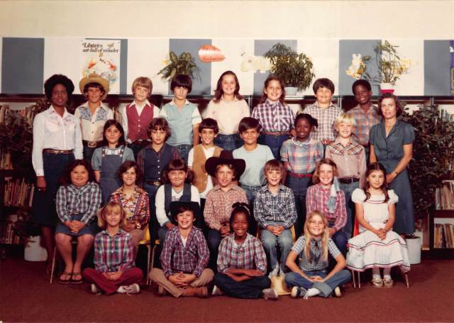"Guess who didn't fully understand the ""cowboys and indians"" theme they wanted for class photos that year?"