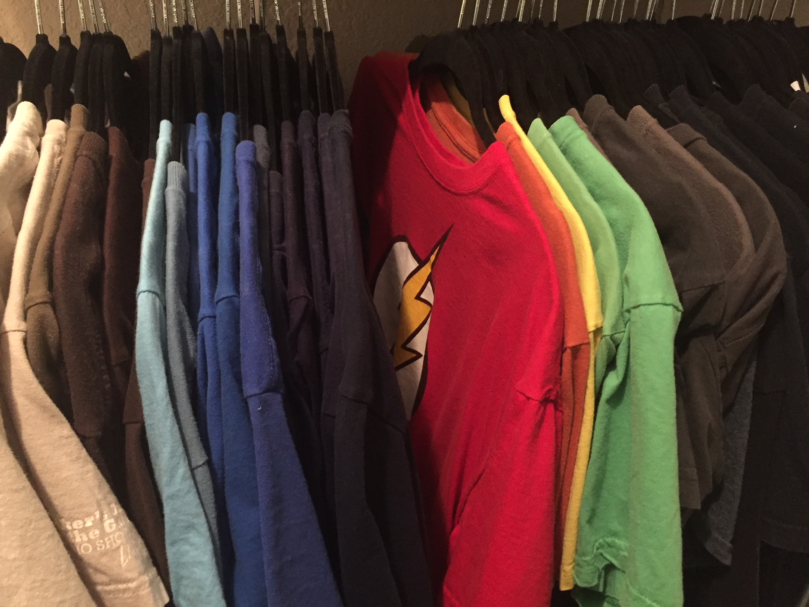 My shirts, resting in their natural habitat.