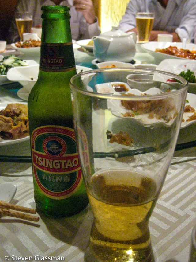 I think this was my first time ever having a Tsing Tao beer.